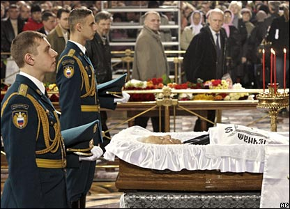 Boris Yeltsin lying in state