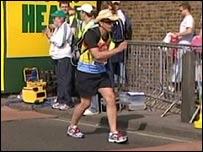 Greg Billingham - slow motion marathon man