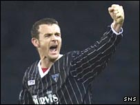 Jim McIntyre celebrates his winning goal