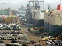 Japanese port of Yokohama, south of Tokyo