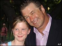 Alec Baldwin and his daughter Ireland