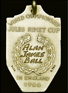 Alan Ball's World Cup medal, whcih he sold in 2005 to raise money for his family