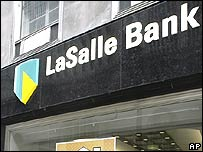 LaSalle bank front in the US
