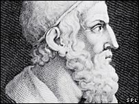 Engraving of Archimedes (Science Photo Library)