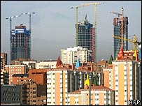Edificios en construcción en España.