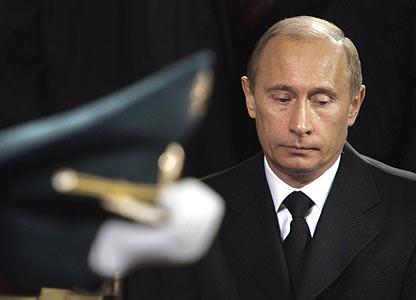 President Vladimir Putin at Boris Yeltsin's funeral