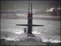 The USS Minneapolis leaving Plymouth before the accident. Photo Ben Sullivan/US Navy