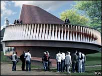 A computer generated image of the Serpentine Gallery Summer Pavilion