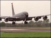 RAF Mildenhall tanker aircraft