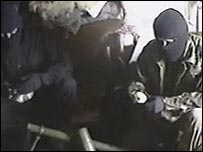 Frame from video seized in Bosnia