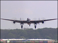 Lancaster bomber at Coventry Airport