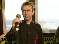 Rev Phil Chew as a punk