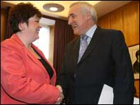 Dawn Purvis met Mr Ahern in Dublin