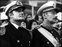 Eduardo Massera and Jorge Videla