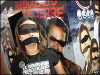 Protesta contra cese de concesi�n a RCTV