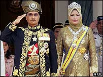 Sultan Mizan Zainal Abidin with Queen Nur Zahirah during the ceremony - 26/04/07