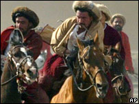 Afghani's playing a game of Buzkashi