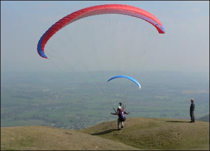 Flying off the Blorenge, as sent by Mark Turp