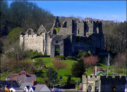 Gareth Thomas from Mumbles sent in this shot of Oystermouth Castle