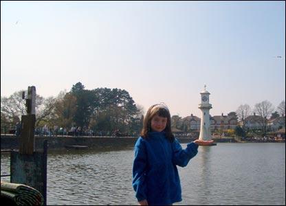 Alison Thomas' niece Emily at Roath Park, Cardiff