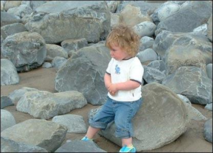 Mel Curran sent in this shot of her son Morgan at Llantwit Major Beach