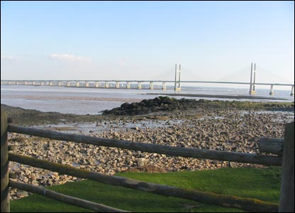 The Second Severn Crossing taken from Black Rock picnic site at Portskewett (Steve Rowland)