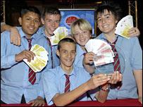 Winning team from Lliswerry High School, pic by Alex Skibinski