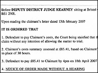 Court order from Judge Kearney