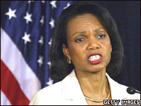 Condoleezza Rice, secretaria de Estado de EE.UU.