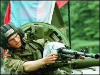 Russian tank 1991