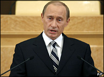 Vladimir Putin delivers the state of the nation address in Moscow