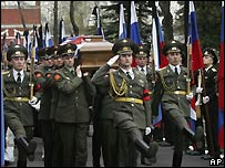 Boris Yeltsin's coffin