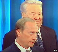 Vladimir Putin and Boris Yeltsin 2000