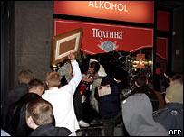 Разграбление магазинов в Таллине