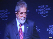 Luiz Inácio Lula da Silva ante el Foro Económico Mundial