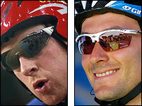 Bradley Wiggins and Ivan Basso