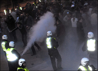 Police fire tear gas to disperse protesters