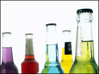 Alcopops, picture from science photo library
