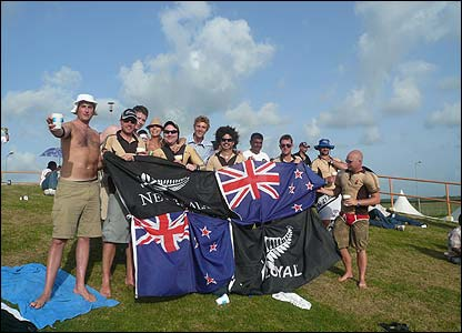 Patrick Jenkinson sent us this photo of New Zealand fans enjoying their team's Super 8 match against Ireland