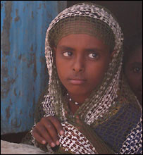 Refugee in Wad Sharife camp, eastern Sudan