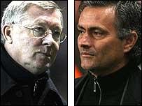 Man Utd boss Sir Alex Ferguson and Chelsea counterpart Jose Mourinho
