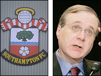 Southampton badge and American billionaire Paul Allen