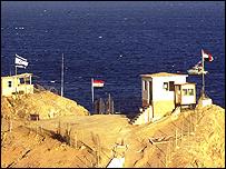 جزء من الحدود المصرية الاسرائيلية