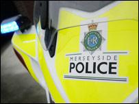 Merseyside Police motorbike