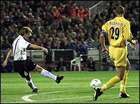 Valencia v Leeds in 2001