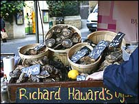 Oysters for sale in London