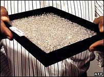 Diamonds for sale on the international market