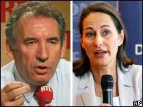 Segolene Royal and Francois Bayrou