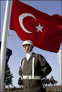 A Turkish soldier. File photo