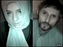 Celine (L) and Eric (R) from a video obtained by Canadian broadcaster CBC
